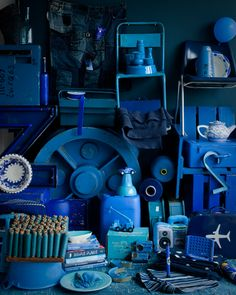 a world of blue