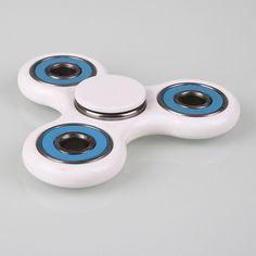 Tri-spinner Fidget Hand Finger Focus Toy EDC Pocket Desktoy ADHD Gift White for sale online Cool Fidget Spinners, Fidget Spinner Toy, Hand Spinner, Tri Spinner, Fidgit Spinner, Fidget Tools, Fidget Cube, Desk Toys, Cool Toys
