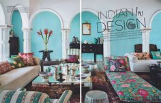 INDIAN BY DESIGN Anita Lal's gorgeous New Delhi home featured in November's #ArchitecturalDigest India magazine. The home completely embraces the colour and spirit of indigenous craftsmanship, giving it the same distinct sensibility that's become the trademark of her company, Good Earth.