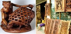 Handicraft and art works in Gianyar regency Wood Carving, Handicraft, Bali, It Works, Home Decor, Craft, Wood Carvings, Decoration Home, Room Decor
