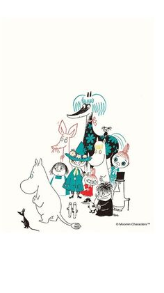 Moomin Wallpaper, Iphone Wallpaper, Moomin Cartoon, Moomin Valley, Cartoon Photo, Little My, Pilgrimage, Troll, Illustration