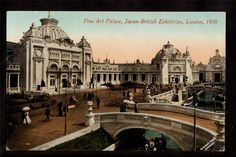 1910 Fine Art Palace Japan British Exhibition London UK Exposition Postcard