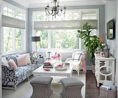 Sunroom Decorating and Design Ideas   For the Home   Pinterest     sunroom christmas decorations   Google Search