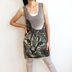 Cat Tshirt Kitten Cute Pet Animal Women T Shirt by TheRockerShop
