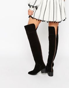 ASOS KING FISHER Suede Over The Knee Boots