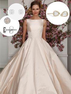 O brinco ideal de acordo com o estilo do vestido de noiva