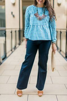 I absolutely love these high-waisted denim trouser jeans not only for the fit (they would be flattering on so many body types!) but also for the ease of wear. Some denim can be so scratchy and rough until you've worn it in, but not this pair! Soft, supple denim that already feels relaxed on just the first and second wear. Perfect!