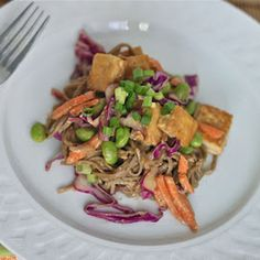 Soba Noodles and Tofu with Spicy Peanut Sauce Recipe on Food52 recipe on Food52