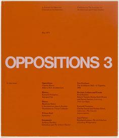 Massimo Vignelli, Lella Vignelli. OPPOSITIONS 3. 1974