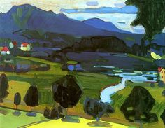 View over the Staffelsee Wassily Kandinsky - 1908