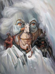 Hidden Images: Optical Illusion Paintings by Oleg Shuplyak Optical Illusion Paintings, Optical Illusions Pictures, Illusion Pictures, Face Illusions, Illusion Kunst, Illusion Art, Illusion Drawings, Oleg Shuplyak, One Photo