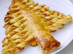 pâte feuilletée, cheddar, ciboulette, jaune d'oeuf