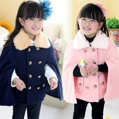 Aliexpress.com : Buy 2014 autumn and winter fur collar girls clothing baby child cloak outerwear mantissas wt 1192 on Kids Fashion Clothing ...
