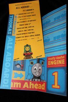 Thomas the Train Invitations.