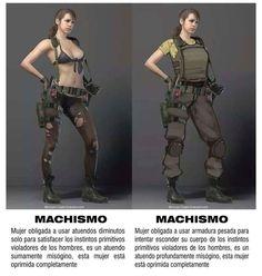 El machismo en los Video Juegos (Ejemplo gráfico) http://yeow.com.ar/2014/10/el-machismo-en-los-video-juegos-ejemplo-grafico.html #--    Existen controversias con el machismo y feminismo, lo que no se  llega es a un punto intermedio de respecto como puede verse en los videos juegos machistas