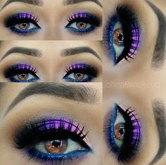Purple and blue eye makeup