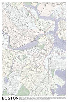 Boston | Typographic Maps