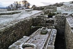Top Ten Toilets Through Time from English Heritage ... photo: Roman toilets at Housesteads Roman Fort on Hadrian's Wall