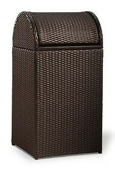 Keep Your Backyard Entertaining Area Garbage Free With The Logan Outdoor Wicker  Trash Can.