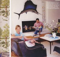 genifer goodman's home :: saifish! I will never, ever forgive myself for not buying that Marlin for the wall in Mexico.
