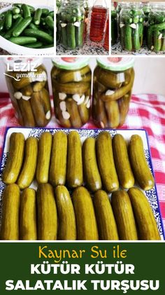 Kaynar Su İle Kütür Kütür Salatalık Turşusu Turkish Recipes, Ethnic Recipes, Marinated Olives, Freezer Meals, Superfood, Appetizer Recipes, Cucumber, Food To Make, Brunch