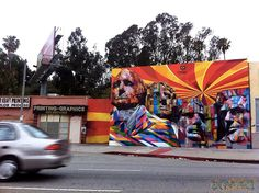Brazilian street artist was done recently in honour of America's Independence Day and is located in LA.