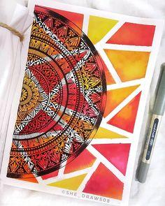 tattoo - mandala - art - design - line - henna - hand - back - sketch - doodle - girl - tat - tats - ink - inked - buddha - spirit - rose - symetric - etnic - inspired - design - sketch Doodle Art Drawing, Cool Art Drawings, Mandala Drawing, Art Drawings Sketches, Mandala Art Lesson, Mandala Artwork, Mandala Painting, Madhubani Art, Madhubani Painting