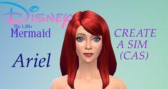 The Sims 4 Create A Sim ( CAS ) - Ariel - Disney's The Little Mermaid