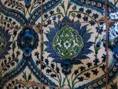 Tiles. Arab Hall, Leighton House, London