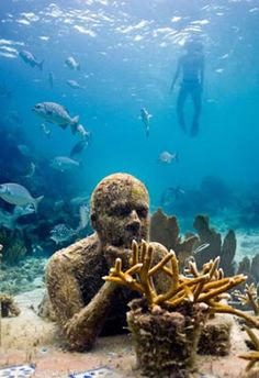 ONE DAY, I WILL see this in-person :) artist jason decaires taylor