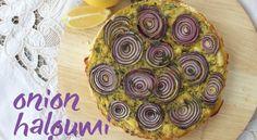 Onion and Haloumi Savoury Slice Recipe | About The Garden Magazine