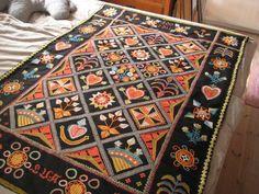 Bildresultat för rekipeitto Wool Embroidery, Rug Hooking, Winter Time, Handicraft, Finland, Fiber Art, Folk Art, Tapestry, Quilts