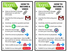 Flipgrid Directions - Freebie by Flair in Fifth Teaching Technology, Educational Technology, Educational Leadership, Teaching Strategies, Teaching Resources, Teaching Ideas, School Resources, Classroom Resources, Google Drive