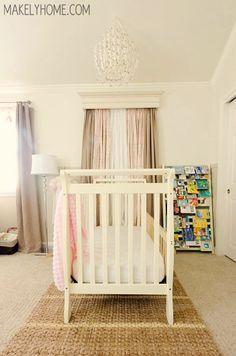 Girl's Nursery - Home Tour via MakelyHome.com
