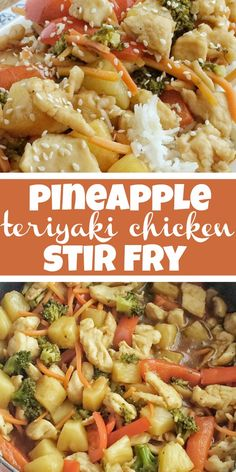 One pot chicken stir fry is a 30 minute meal that is full of flavor and cooks in one pan on the stove top! Veggies & chicken in a homemade teriyaki sauce. Teriyaki Stir Fry, Salsa Teriyaki, Paleo, Stir Fry Recipes, Cooking Recipes, Cooking Pasta, Asian Recipes, New Recipes, Healthy Recipes