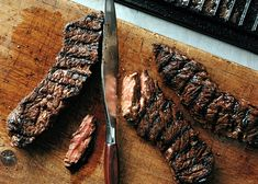 Grilled Marinated Sirloin Flap Steaks Recipe | Epicurious.com