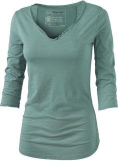 Fat Face Bordeaux Notch Neck 3/4 Sleeve T-Shirt