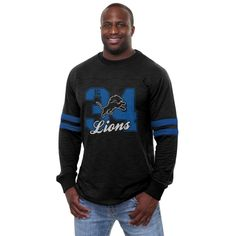 NFL Pro Line Los Angeles Rams Heritage Football Jersey Long Sleeve T-Shirt  - Navy Blue. Team Sports Trends 8fb11bacf
