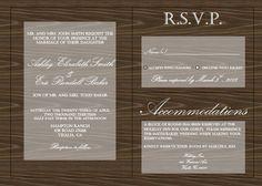 Custom Wedding Invitation. $20,00, via Etsy.