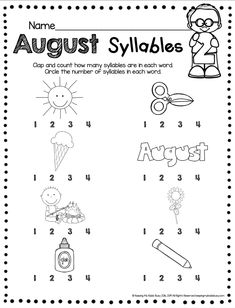 AUGUST NO PREP CENTERS - reading writing math - kindergarten standards - skills advance through the year - counting - letters - name - fine motor skills - colors - shapes - number line - one to one correspondence - sight words - first sounds - simple activities - august - back to school - printables - freebies - free resources #kindergartenbacktoschool #kindergarten Syllables Kindergarten, Kindergarten Freebies, Kindergarten Lesson Plans, Kindergarten Centers, Homeschool Kindergarten, Literacy Worksheets, 19 Kids And Counting, Home Schooling, Lower Case Letters