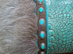 Detail: Leather and fur pillow from StargazerMercantile.com! #Westen #home