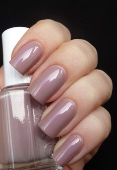 Essie's Demure Vix. An iridescent and very pretty cocoa mauve color. Very cute on toes for a neutral look.