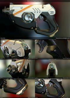 Overwatch Tracer's Gun Screenshots (Merged!) by jsalmighty Digital Art…