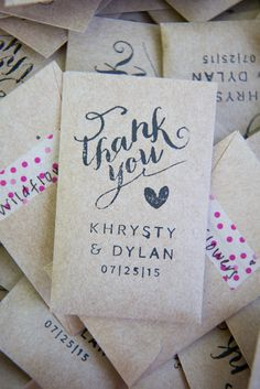 DIY Seed Packet Wedding Favors | Ashley Macadam Photography | Blue Mae Events | Paper N' Peonies