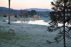 Frio ao amanhecer de Lages, na Serra Catarinense, ao amanhecer desta quinta-feira, 28 de agosto de 2014. A temperatura na cidade chegou a -1ºC, mas a mínima no Estado foi de -6,8ºC, em Urupema:imagem 25