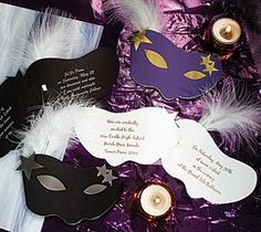 For a Masquerade Themed Wedding Stationery by Trouli Graphics ...