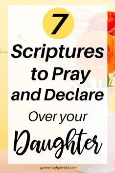 Praying for our daughters is a powerful way to express our love towards our children. Use the seven powerful Scriptures in this post to pray over your daughter as she grows to be a godly woman. Plus, download a FREE mother/daughter journal in this post to draw closer to your daughter and the the Lord! #prayerjournalforgirls #motherdaugherjournal #prayer #daughterquotes #scripture Powerful Scriptures, Prayer Scriptures, Bible Prayers, Prayer Quotes, Bible Verses, Powerful Prayers, Prayer For My Children, Prayer For You, Power Of Prayer