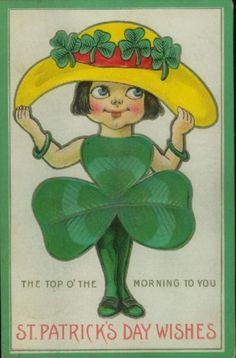 Cute St Patrick's Day postcard! Circa 1910