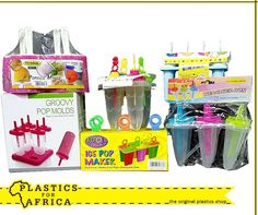 Make your own refreshing ice lollies to enjoy in the summer sun with these ice lolly makers. Available from your nearest store. Ice Pop Maker, Plastic Shop, Make Your Own, How To Make, Summer Sun, Summertime, Baking, Store, Kids
