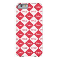 Coca-Cola | Red & White Checker Pattern Barely There iPhone 6 Case